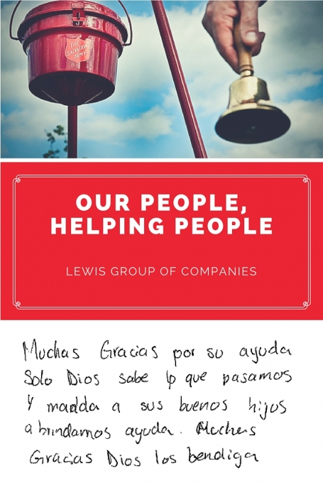 Lewis Group of Companies assist families through Salvation Army