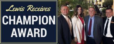 Randall Lewis Receives Champion Award