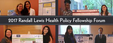Developing a Health Conscious Future Through the Randall Lewis Health Policy Fellowship